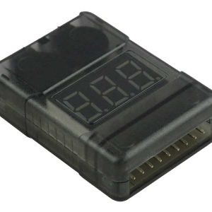 LiPo-Checker 1-8S in a plastic case adjustable