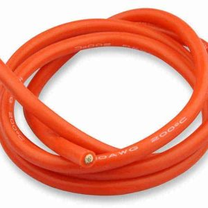 Silicone cable 6mm² x 1.000mm 10AWG (Red)