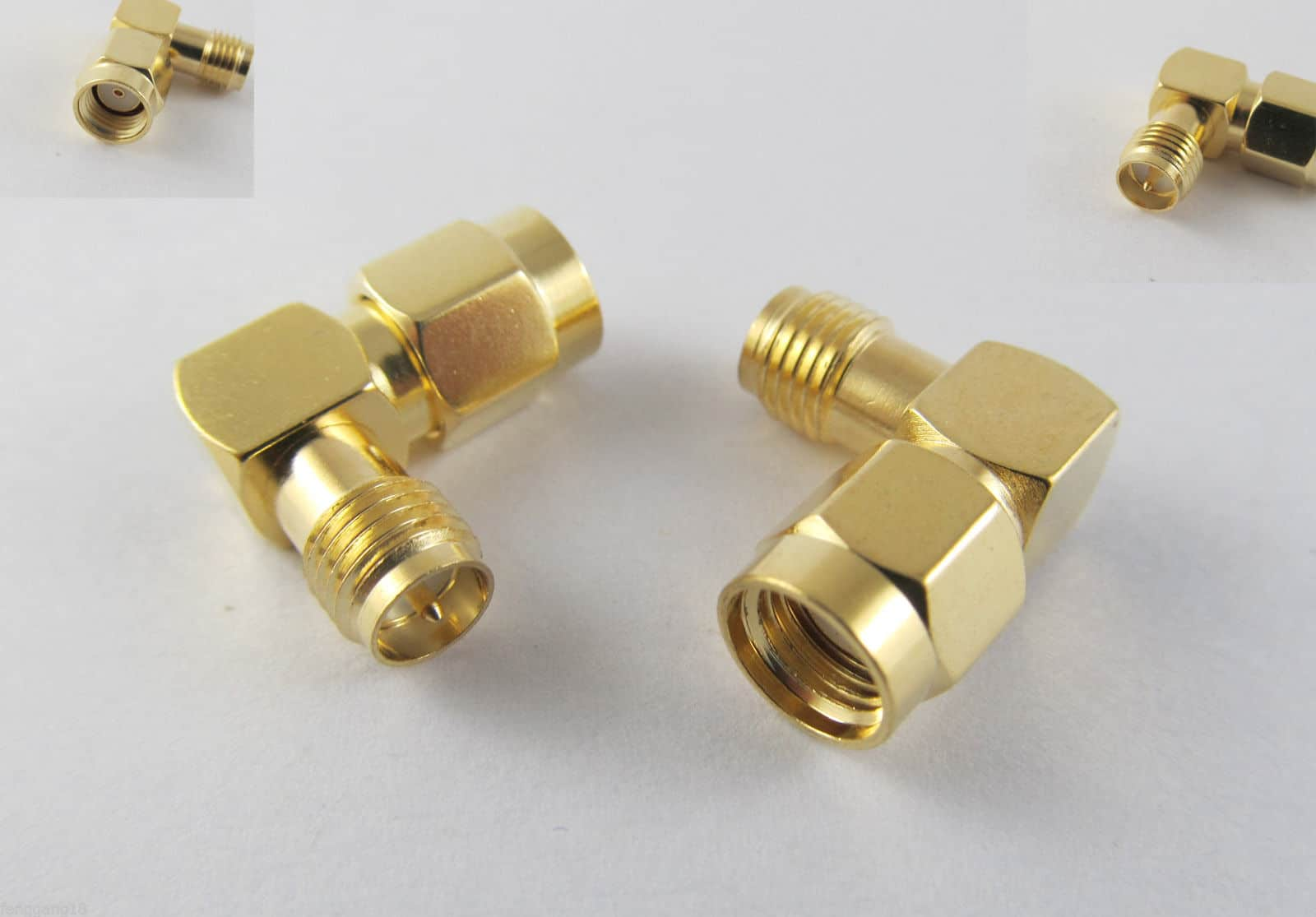 RP-SMA Male To RP-SMA Female Male Pin Right Angle 90 Degree RF