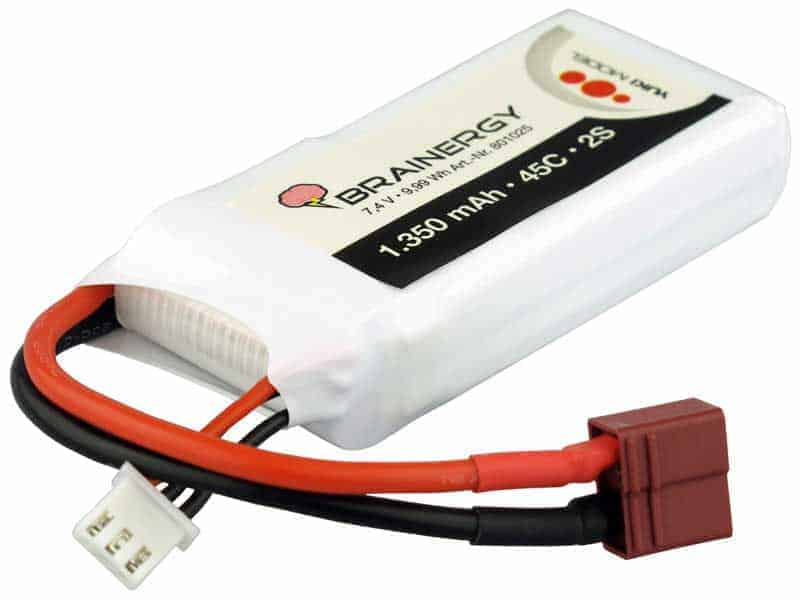 LiPo 2s1p 7,4V 1.350mAh 45C BRAINERGY compatible with Deans T