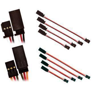 Pre-wired 22AWG silicon servo extension 15cm (JR)