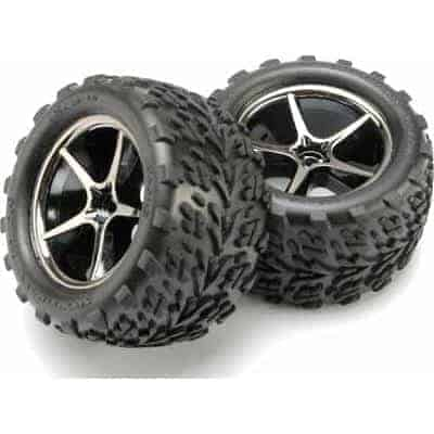 (TRX-7174A) - Tires and wheels (2pcs) - 1/16 E-Revo