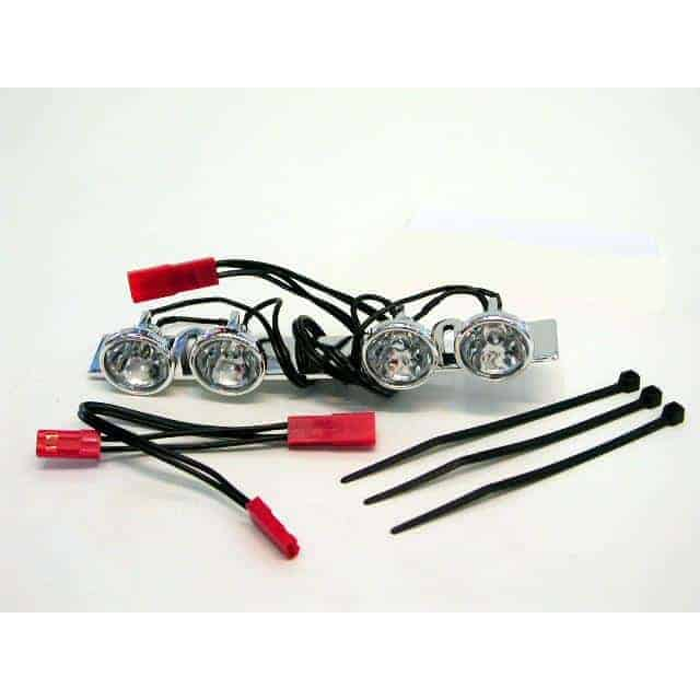 (TRX-5684) - LED Lightbar,chrome,4 clear lights/Summit