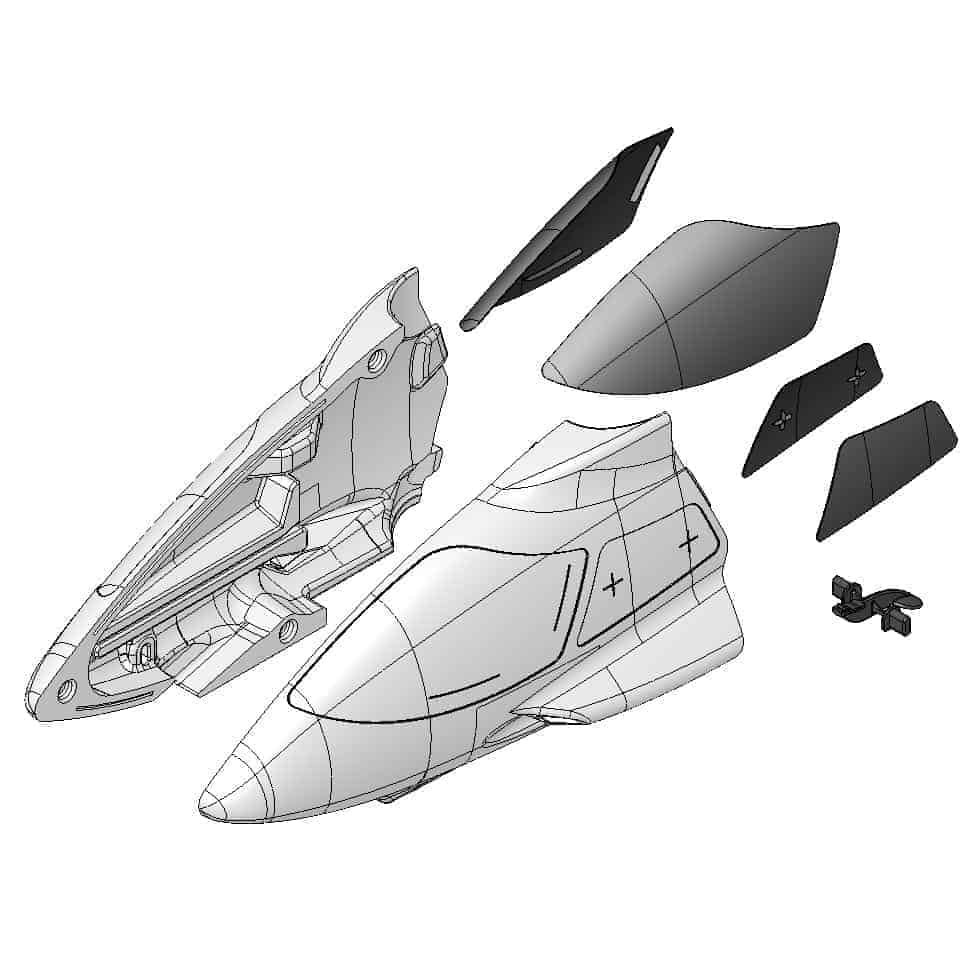 (MUL-223020) - Fuselage front + Glazing
