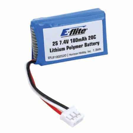 (EFLB1802S20 ) - 180mAh 2S 7.4V 20C LiPo, 26AWG by E-flite