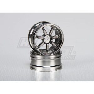 1:10 Scale Wheel Set (2pcs) 7-Spoke RC Car 26mm (3mm offset)