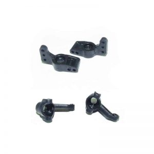 (YEL12071) - YellowRC Steering hubs (L/R) + Rear hub carriers