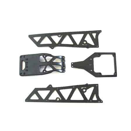 (YEL12002) - YellowRC Chassis side plates A + motor guard +