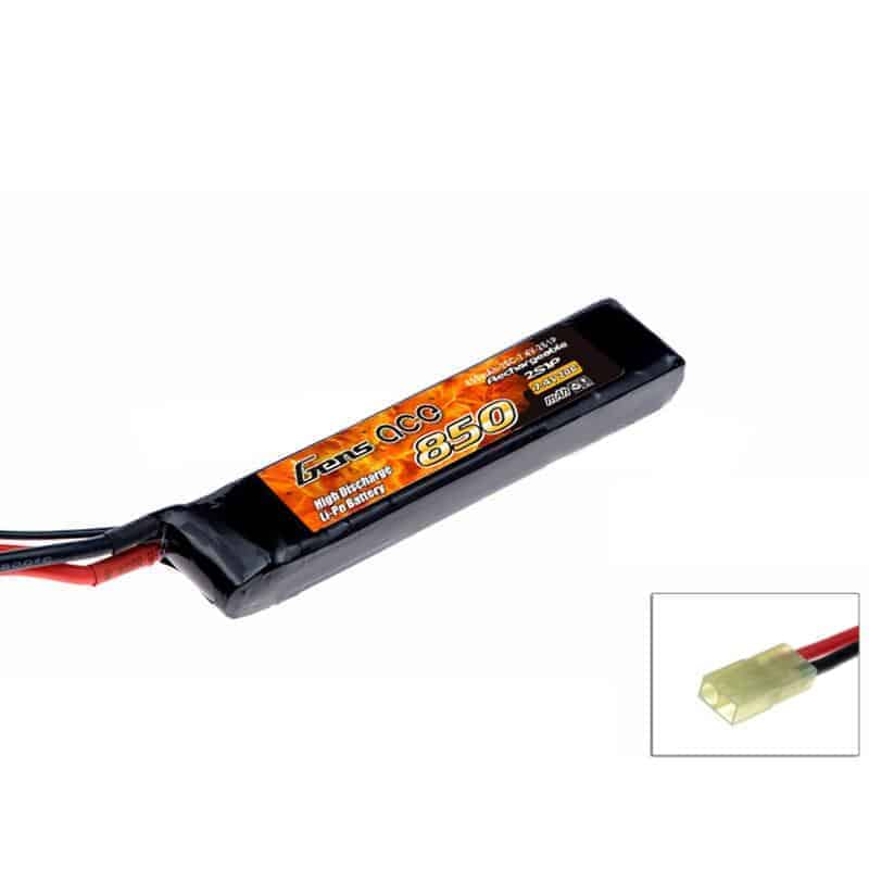 Gens ace 850mAh 7.4V 20C 2S1P Lipo for Airsoft