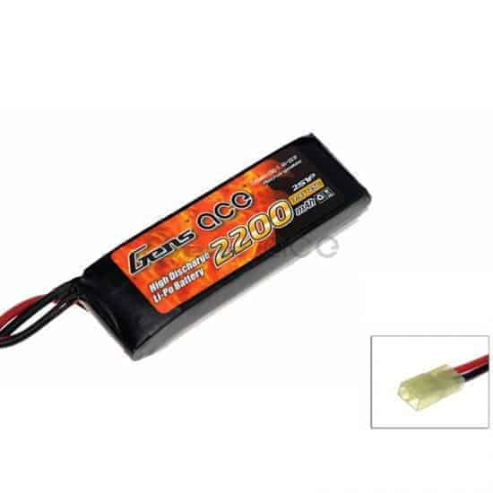Gens ace 2200mAh 7.4V 25C 2S1P Airsoft Lipo Battery Pack