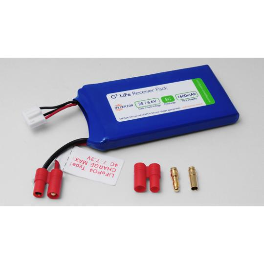 "Hyperion LiFePO4 6.6V 1600mAh Receiver Pack ""air thin"""