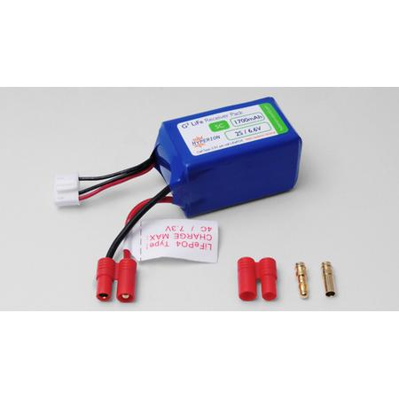 "Hyperion LiFePO4 6.6V 1700mAh Receiver Pack ""hump"""