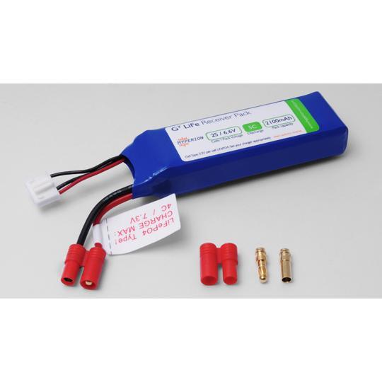 Hyperion LiFePO4 6.6V 2100mAh Receiver Pack