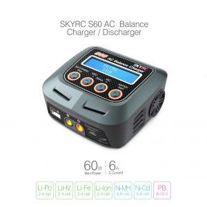 SkyRC S60 60W AC Balance Charger (1-4S LiPo)