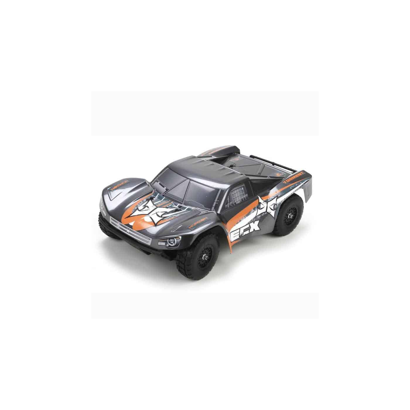 ECX 1/18 Torment 4WD Short Course Truck RTR, Gray/Orange