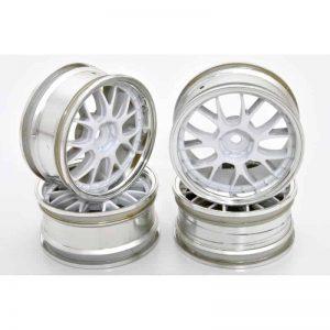 1/10 RC Car Metallic Plate 14 Spoke Wheel Set 4pcs