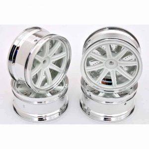 1/10 RC Car 26mm Metallic Plate 8 Changeble Spoke Wheel 4pcs