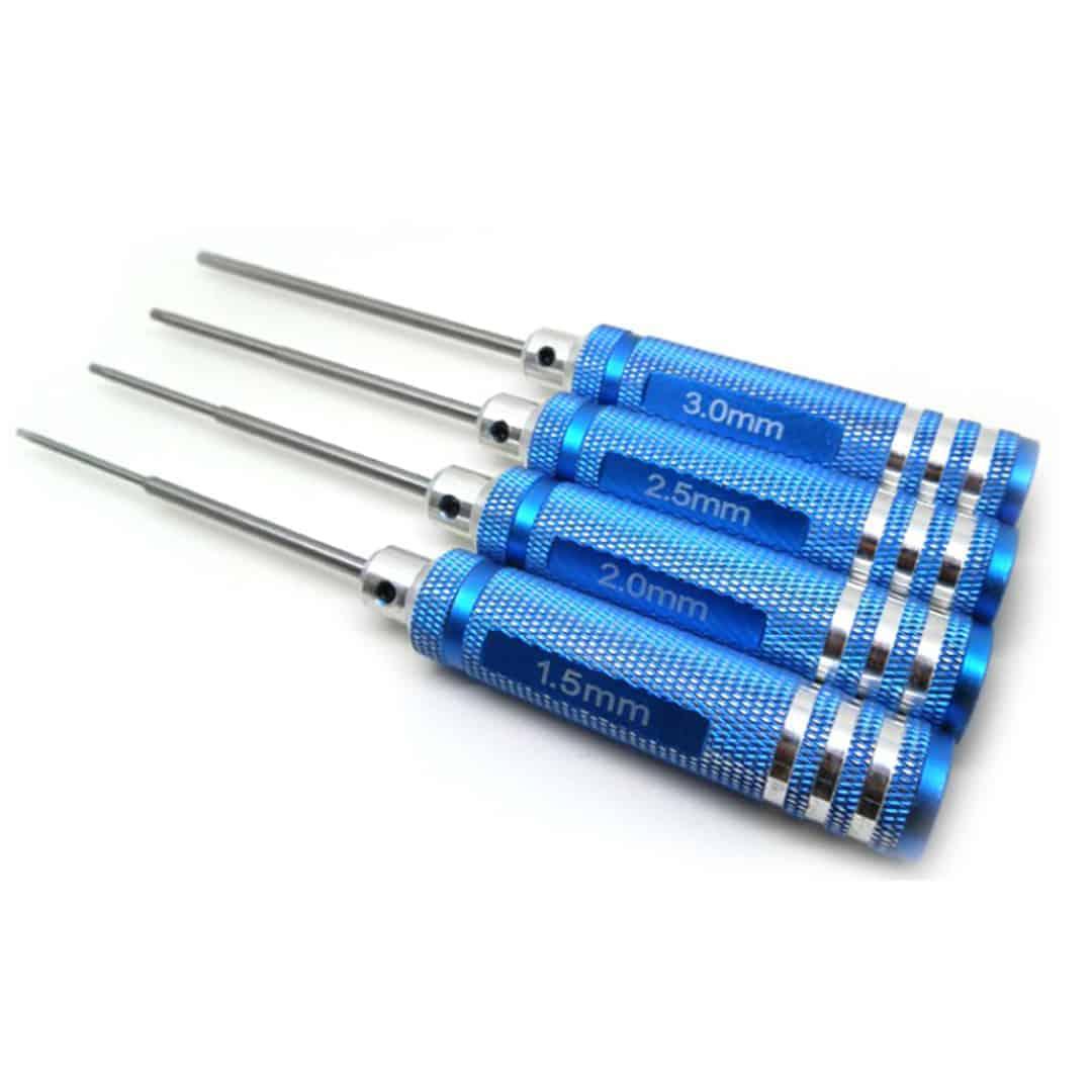 Hard Steel Hexagon Screwdriver Tool Kit 1.5mm/2.0mm/2.5mm/3.0mm