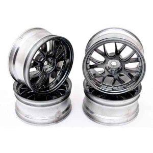 1/10 RC Car 14 Spoke Wheel Sports 26mm (4pcs) - Grey