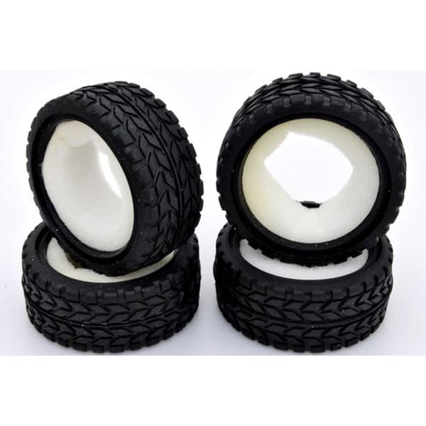 1/10 RC On-Road Car Performance Tyres Set with Insert Sponge