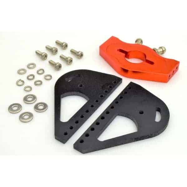 RC Boat Fiberglass 25mm*52mm 540 Motor Mount with Water Cooling