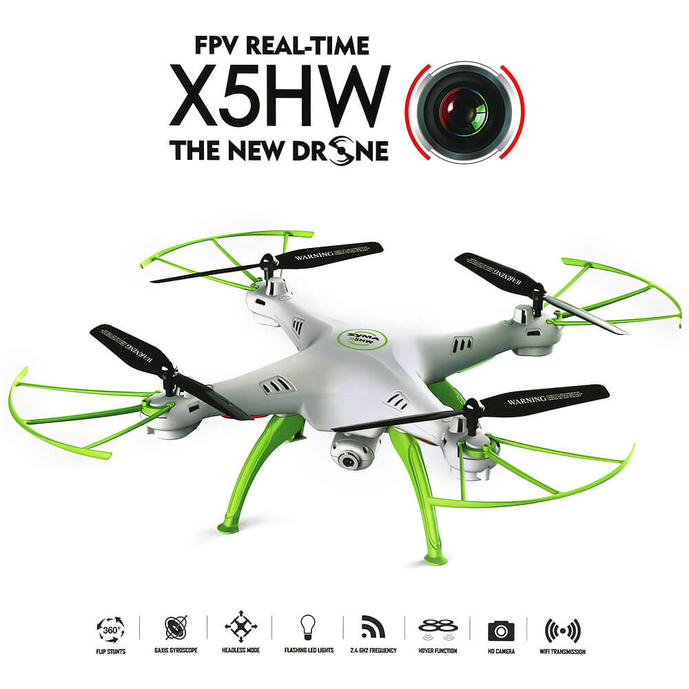 Syma X5HW Drone WiFi FPV Realtime HD Camera 6Axis (Λευκό)