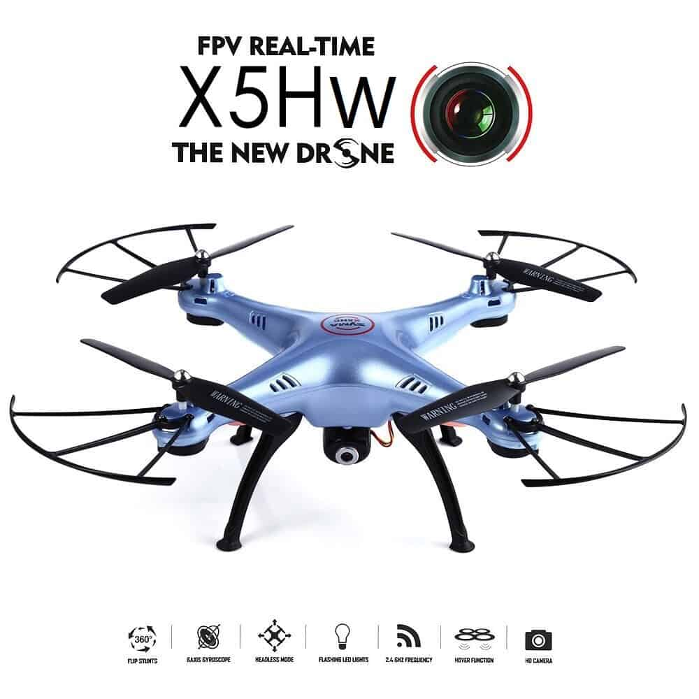 Syma X5HW Drone WiFi FPV Realtime HD Camera 6Axis (Μπλέ)