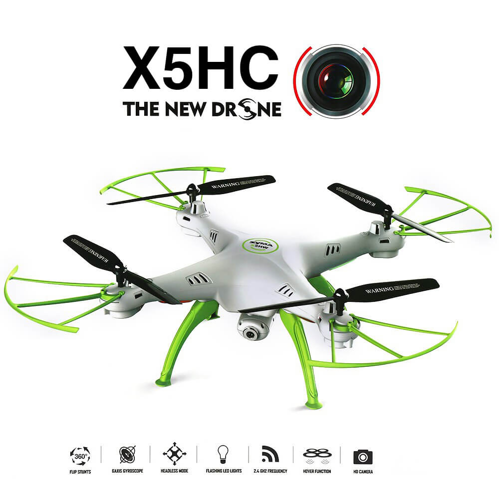 Syma X5HC Drone With 2MP HD Camera 2.4G 4CH 6Axis Headless Mode ΛΕΥΚΟ