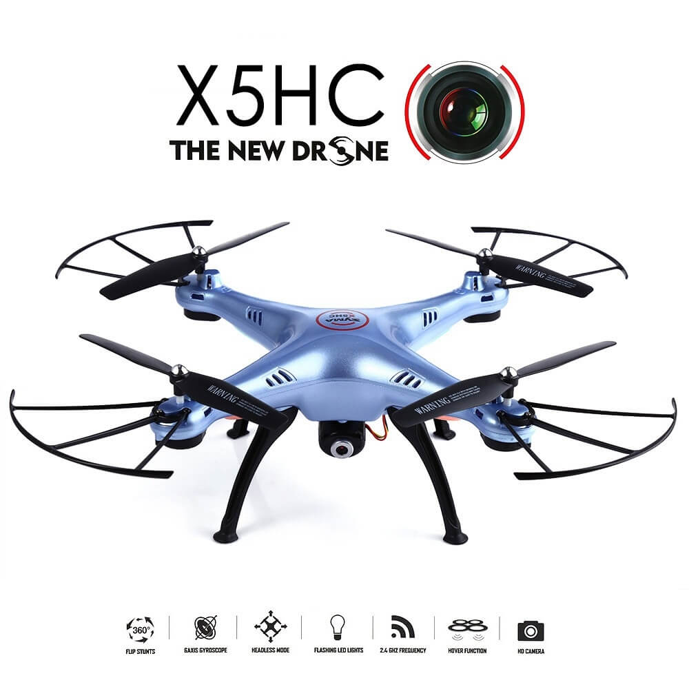 Syma X5HC Drone With 2MP HD Camera 2.4G 4CH 6Axis Headless Mode ΓΑΛΑΖΙΟ
