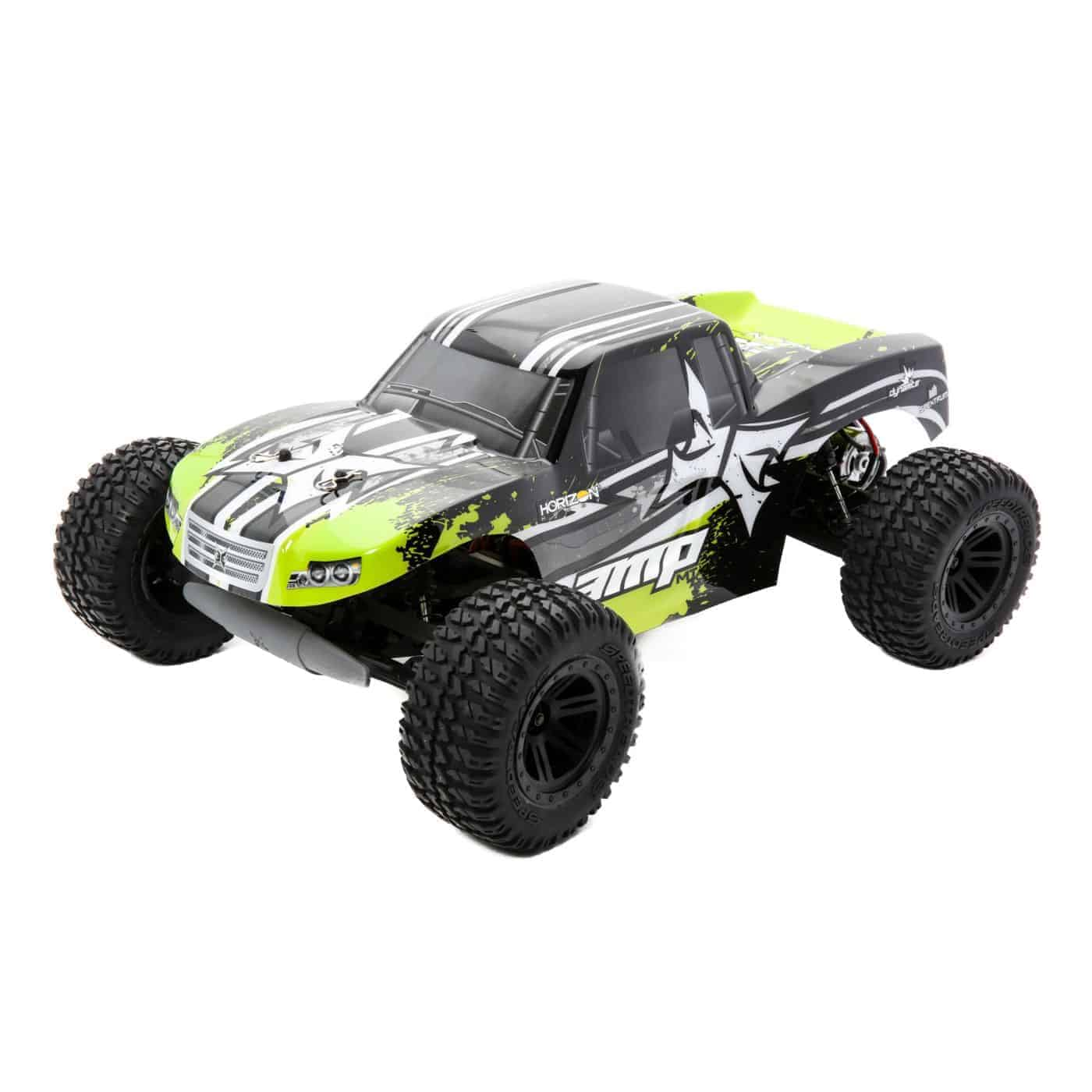 ECX 1/10 AMP MT 2WD Monster Truck RTR, Black/Green