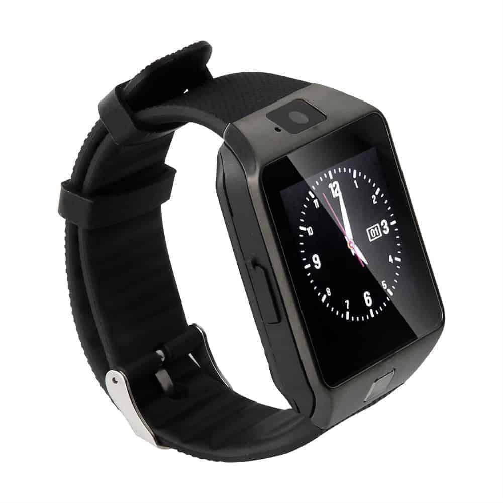 DZ09-GR Smartwatch με υποδοχή SIM ΜΑΥΡΟ