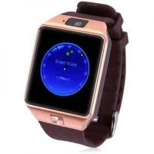 DZ09-GR Smartwatch με υποδοχή SIM ΧΡΥΣΟ