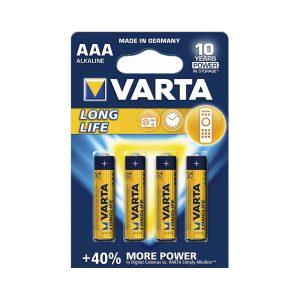 Varta AAA Long Life Alkaline 1.5V 4pcs