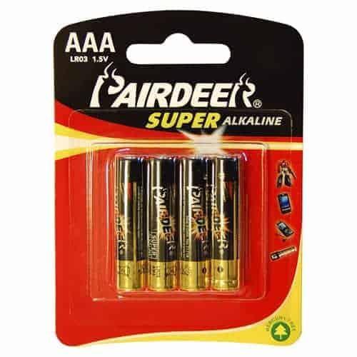Pairdeer AAA Super Alkaline 1.5V 4pcs