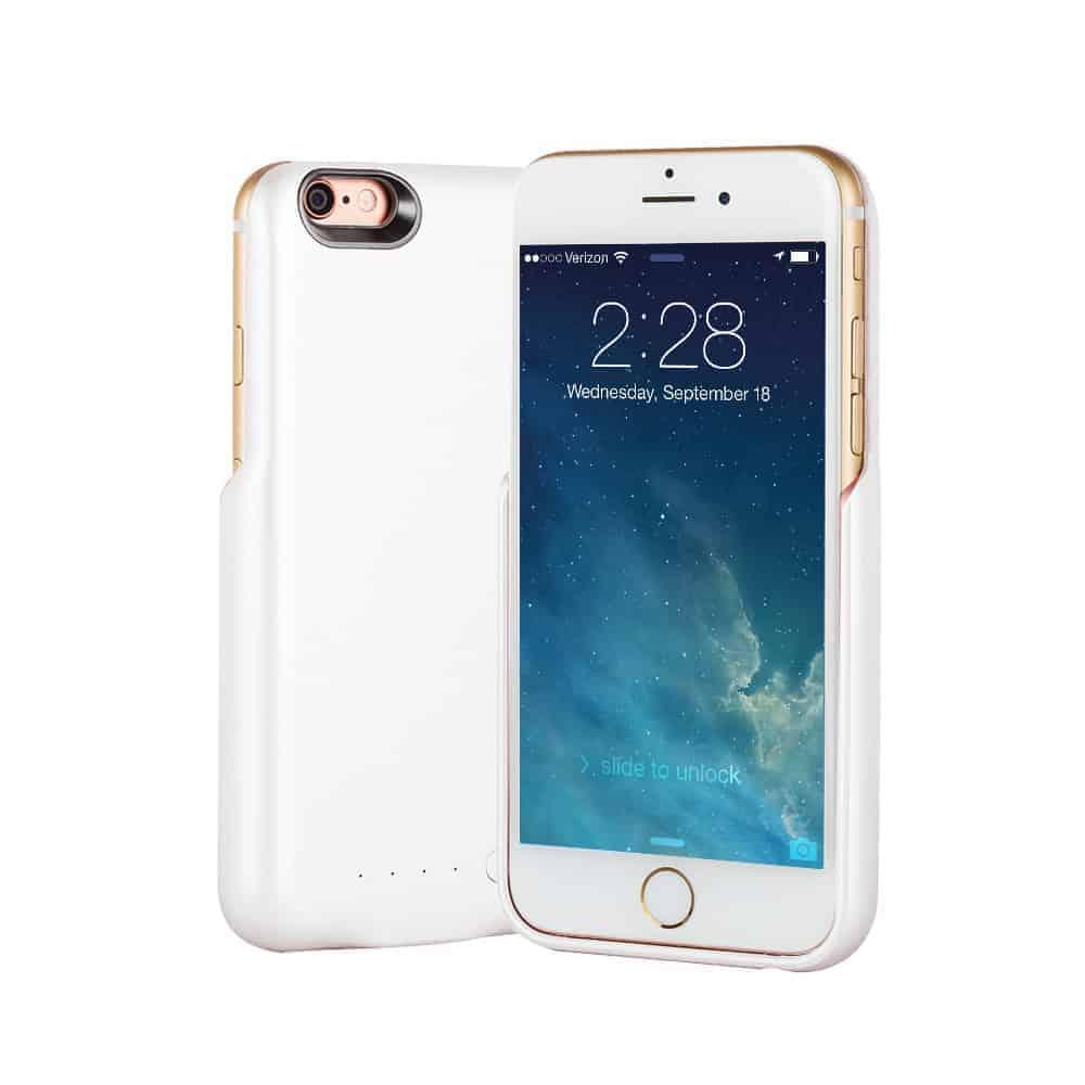 Θήκη με μπαταρία 8000mAh για iPhone 6/6S PLUS (ΛΕΥΚΗ)