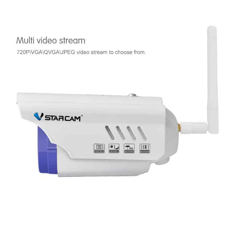Vstarcam C7815WIP Αδιάβροχη IP κάμερα HD 720p με WiFi/Ethernet και νυχτερινή λήψη