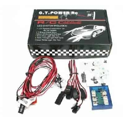 GPX Extreme - Set of LED lighting RC car with driver