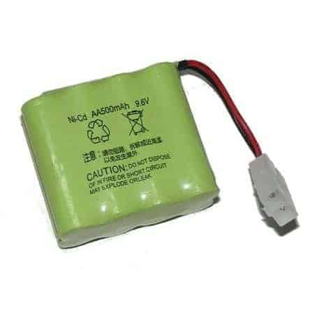 NiCd 500mAh 9,6V battery pack