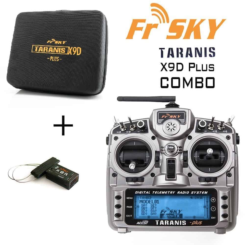 FrSky Taranis X9D Plus (FCC) 2.4GHz ACCST Radio w/ zipper case and X8R