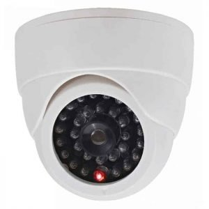 DUMMY CAM 24 Ψεύτικη υπέρυθρη κάμερα οροφής Ομοίωμα Dummy Camera με LED που αναβοσβήνει