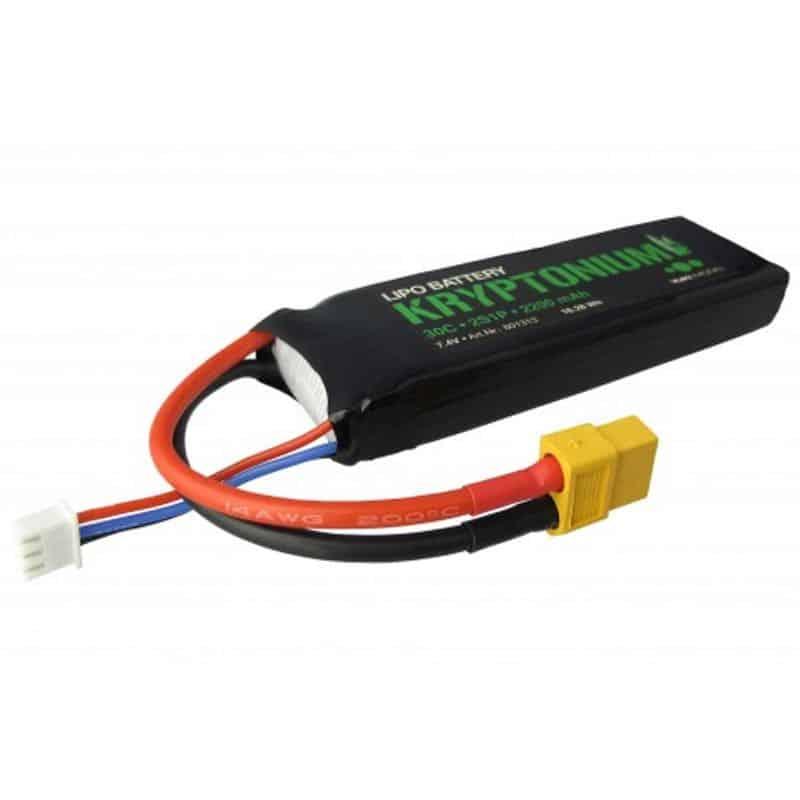 Kryptonium Lipo 2S 7.4V 2200mAh 30C compatible with XT60