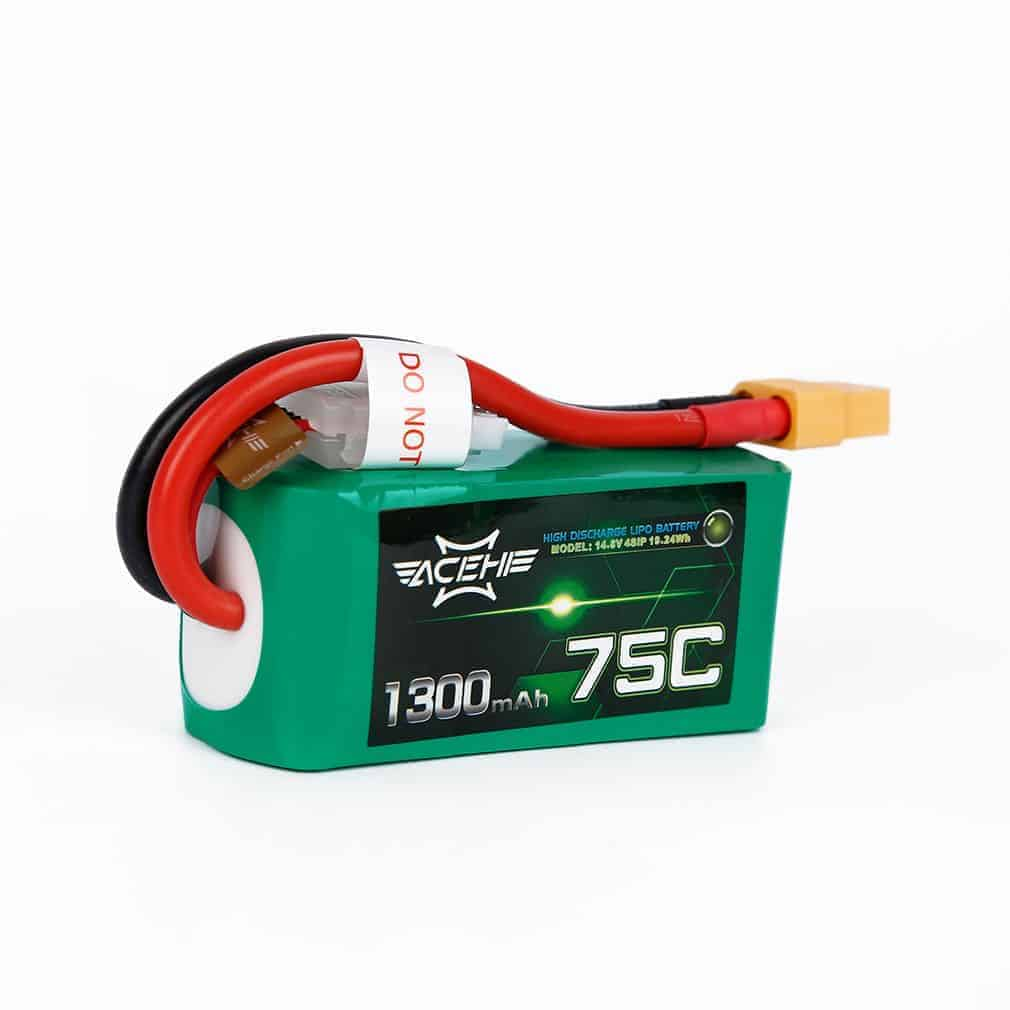 Acehe 1300mAh 14.8V 75C 4S1P High Discharge Lipo Battery Pack