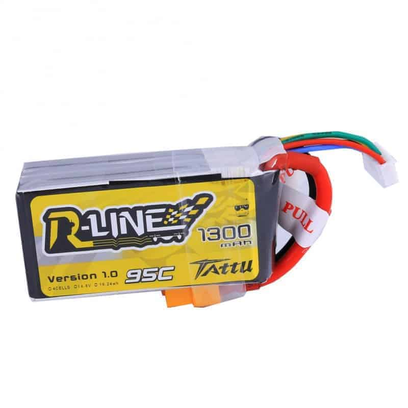 Tattu R-Line 1300mAh 95C 4S1P lipo battery pack