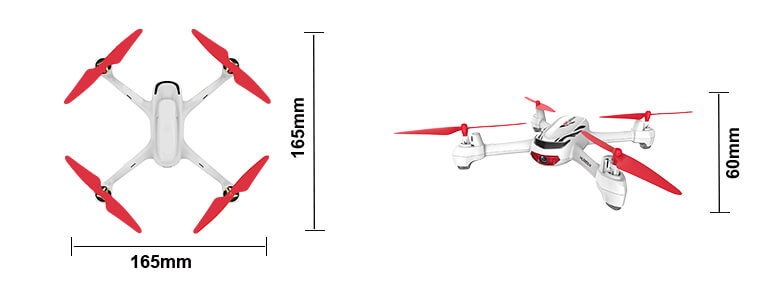 H502E Quadcopter Dimensions